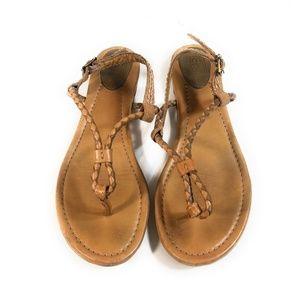 Frye Madison Braid Sling Thong Sandals Size 8.5 M